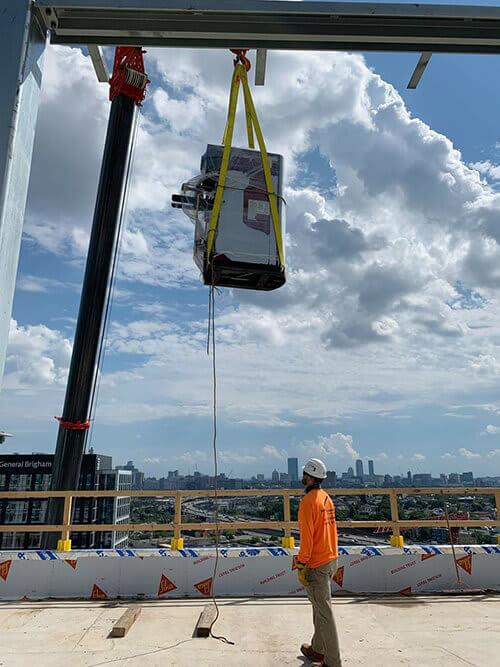 Hvac Installer On Building